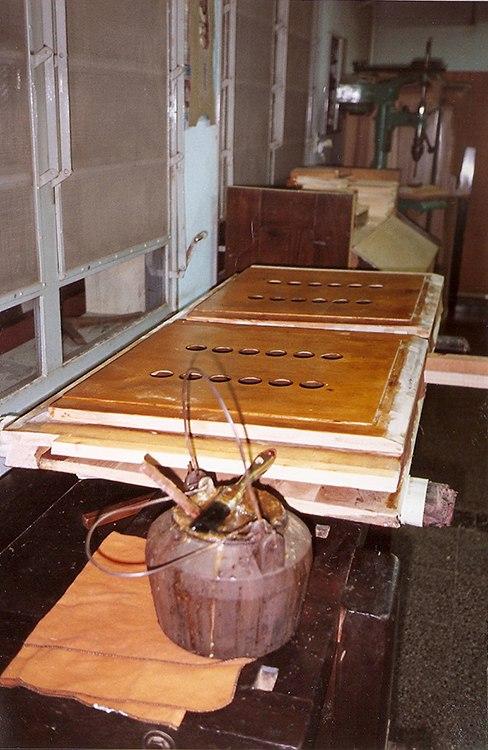 Restauración partes de armonio. Fuelle, preparación para su armado a nuevo