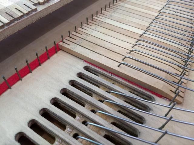 Restauración de válvulas internas de secreta de armonio